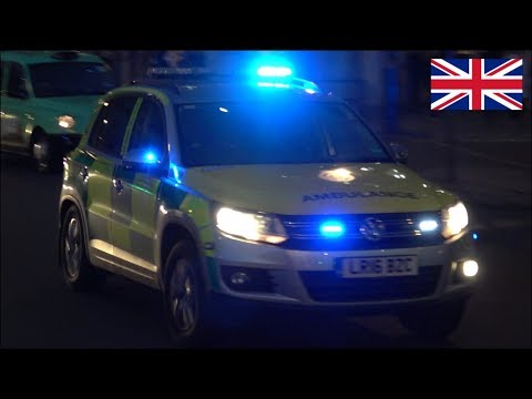 Freemasons - London Ambulance car responding with siren and lights