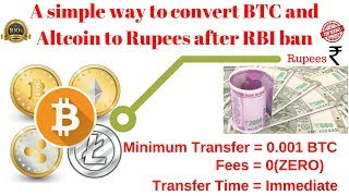 How to convert Bitcoin to rupees and withdrawal to bank||How to convert BTC to INR if rbi ban btc