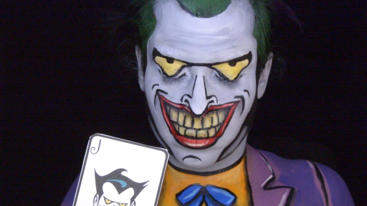 e315a91cdec32e Joker From Batman The Animated Series Makeup Tutorial