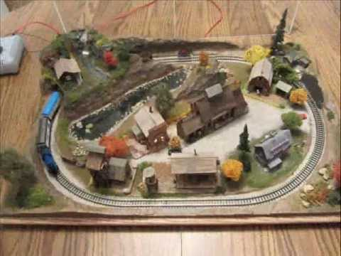 """Z"" Scale Train Layout"
