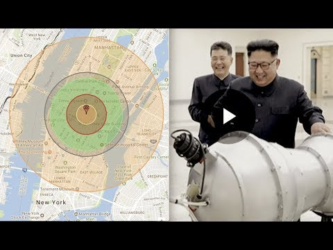 North Korea, New Hydrogen Bomb Fits on ICBM, Detailed Coastal Cities & Radiation Fallout Map