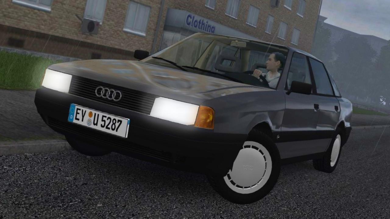 e25c000b6c2 City Car Driving 1.5.3 Audi 80 B3 Rain Logitech G27 [1080p][60fps ...