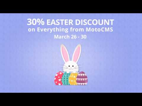 Easter Sale 2018 | MotoCMS Website Builder
