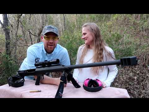 My Wife shoots the Barrett 50 BMG