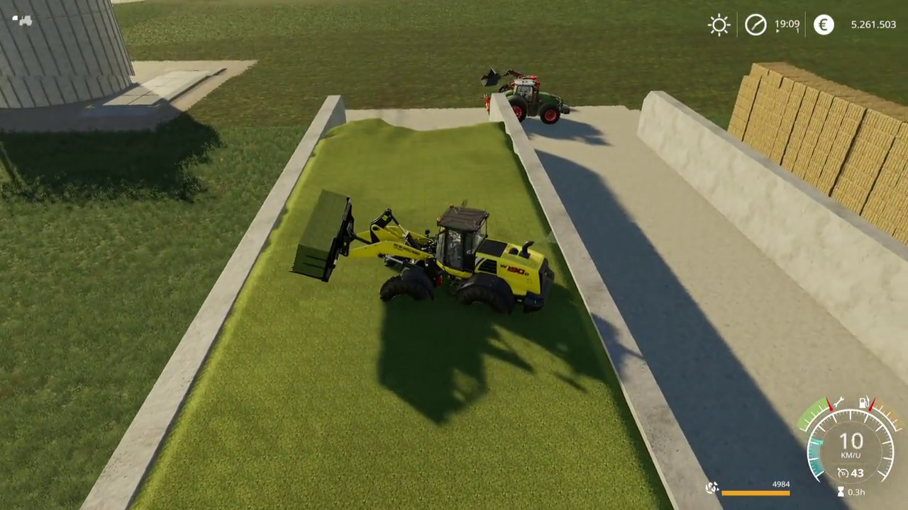 Let's Play Farming Simulator 2019 | felsbrunn | Filling the big silage  bunker | episode 7