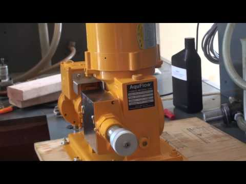 Loading Oil into a Hydraulic Diaphragm Metering Pump