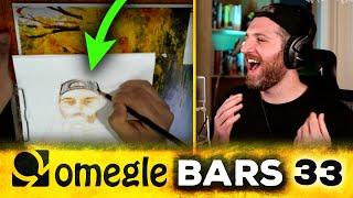 Harry Mack Does EPIC 12-Minute One-Take Freestyle While Artist Draws Him | Omegle Bars 33