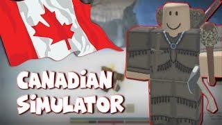 Überleben der Kälte! Der kanadische Simulator Teil 2 | Nördliche Grenze Roblox Lustig