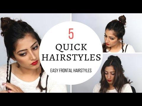 5 Quick Hairstyles (Hindi) - Frontal