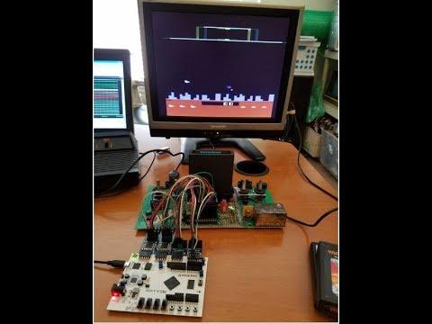 MCL65 6502 FPGA core running Defender on Atari 2600 - YouTube