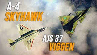 A-4 Skyhawk Vs AJS 37 Viggen Dogfight | Digital Combat Simulator | DCS |