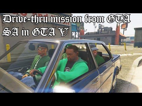 GTA V - Drive-Thru Mission From GTA San Andreas
