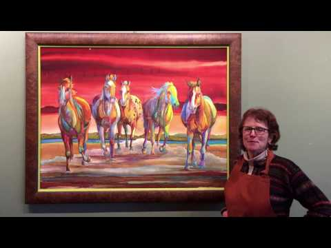"""""""Wild & Free"""" by Nancy Dunlop Cawdrey - Heart of the West Auction - Lot 63"""