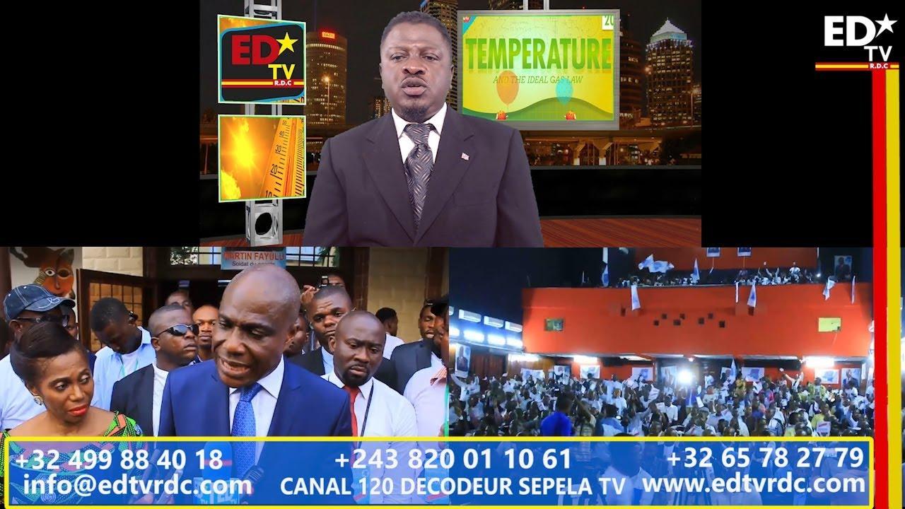 TEMPÉRATURE DU 31 MAI 2018: LIKAMBO YA CANDIDAT UNIQUE YA OPPOSITION.