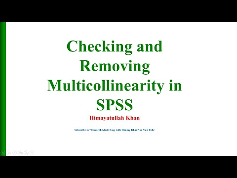 9 Checking and Removing Multicollinearity in SPSS with Dr  Himayatullah Khan
