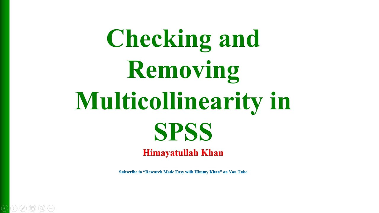 10 Checking and Removing Multicollinearity in SPSS with Dr Himayatullah Khan