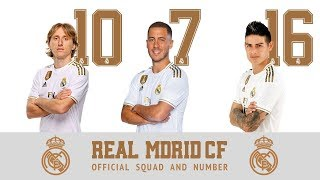 Real Madrid 2019/20: Official Squad Number