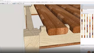 SketchUp: Sofa Table Bench