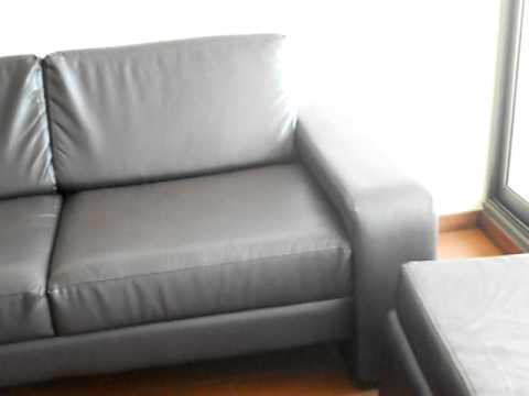 Sofas sillones de cueros modernos juegos de living modulares   youtube