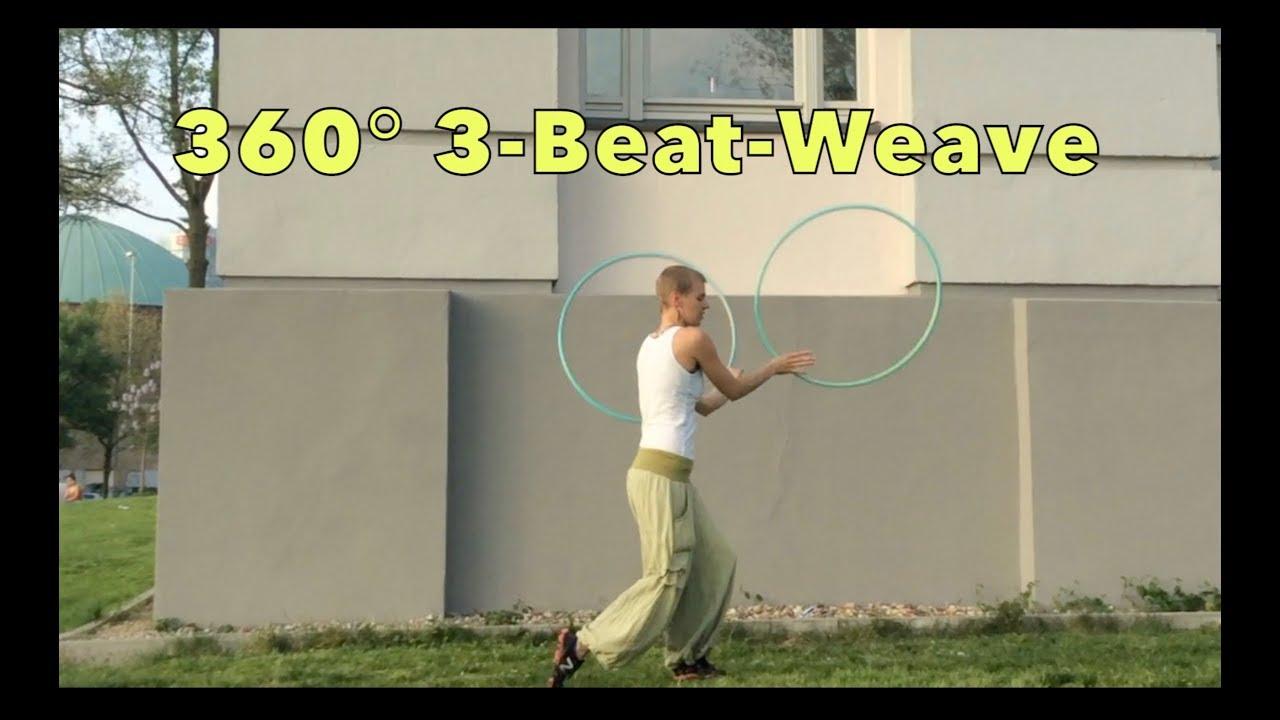 Hoop tutorial 360 3-beat-weave youtube.