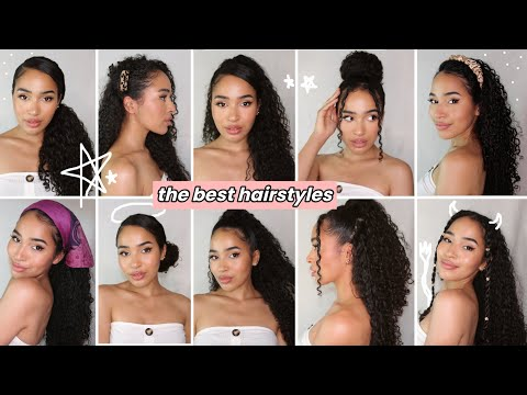 10-easy-hairstyles-for-curly-hair---summer-2020-✨