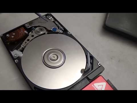Take a look inside a hard drive while it's running