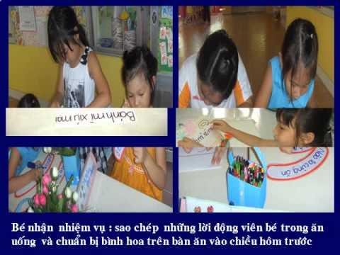 Giáo dục về dinh dưỡng cho trẻ Mầm Non
