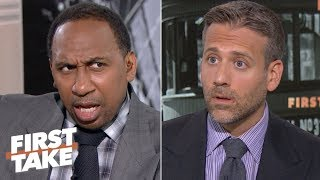 I'd put my money on the Chiefs over the Browns – Stephen A. | First Take thumbnail