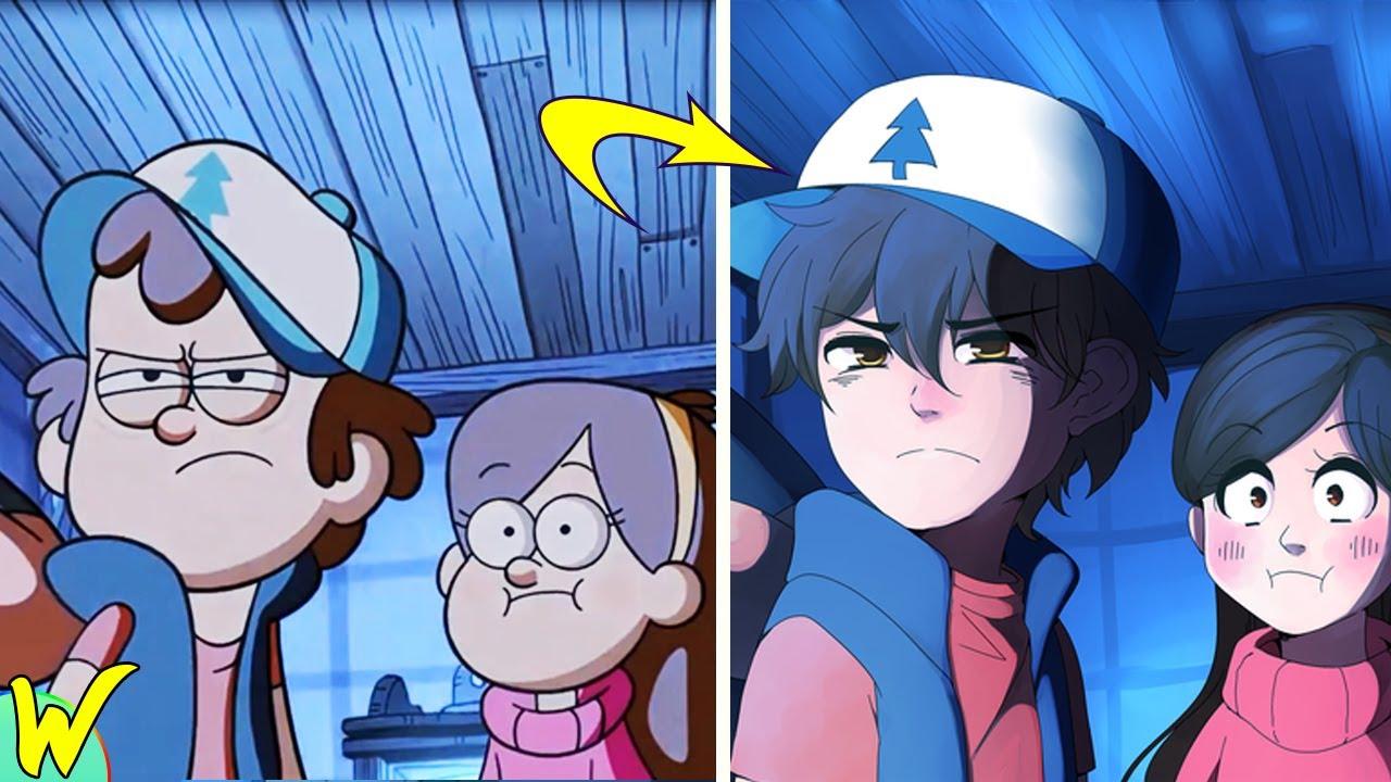 картинки аниме в стиле гравити фолз