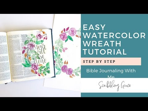 Watercolor Wreath Tutorial- Bible Journaling With Me