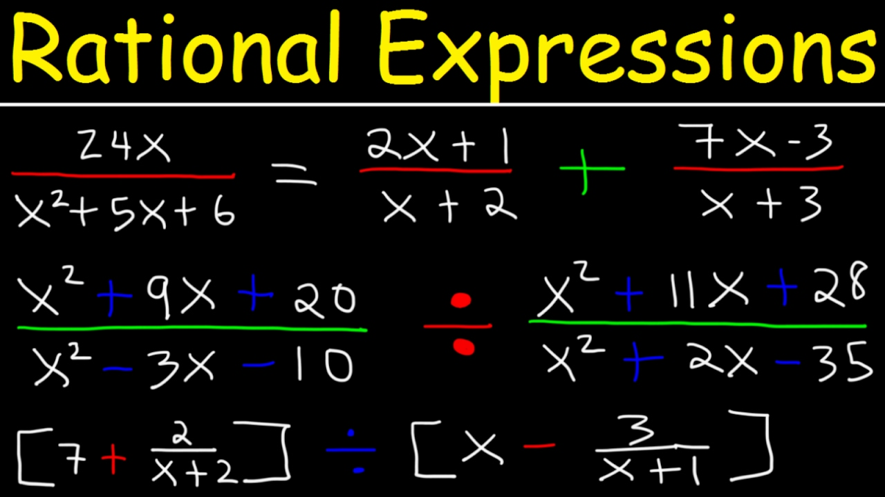 Rational Expressions , Adding, Subtracting, Multiplying, Dividing,  Simplifyingplex Fractions