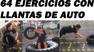 64 EJERCICIOS CON LLANTAS DE AUTO(NEUMATICOS) PARTE 2