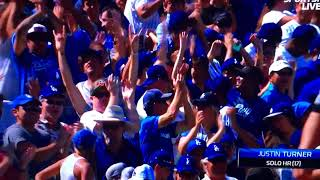 Justin Turner Slugs his 2nd Homerun of the game Vs Padres
