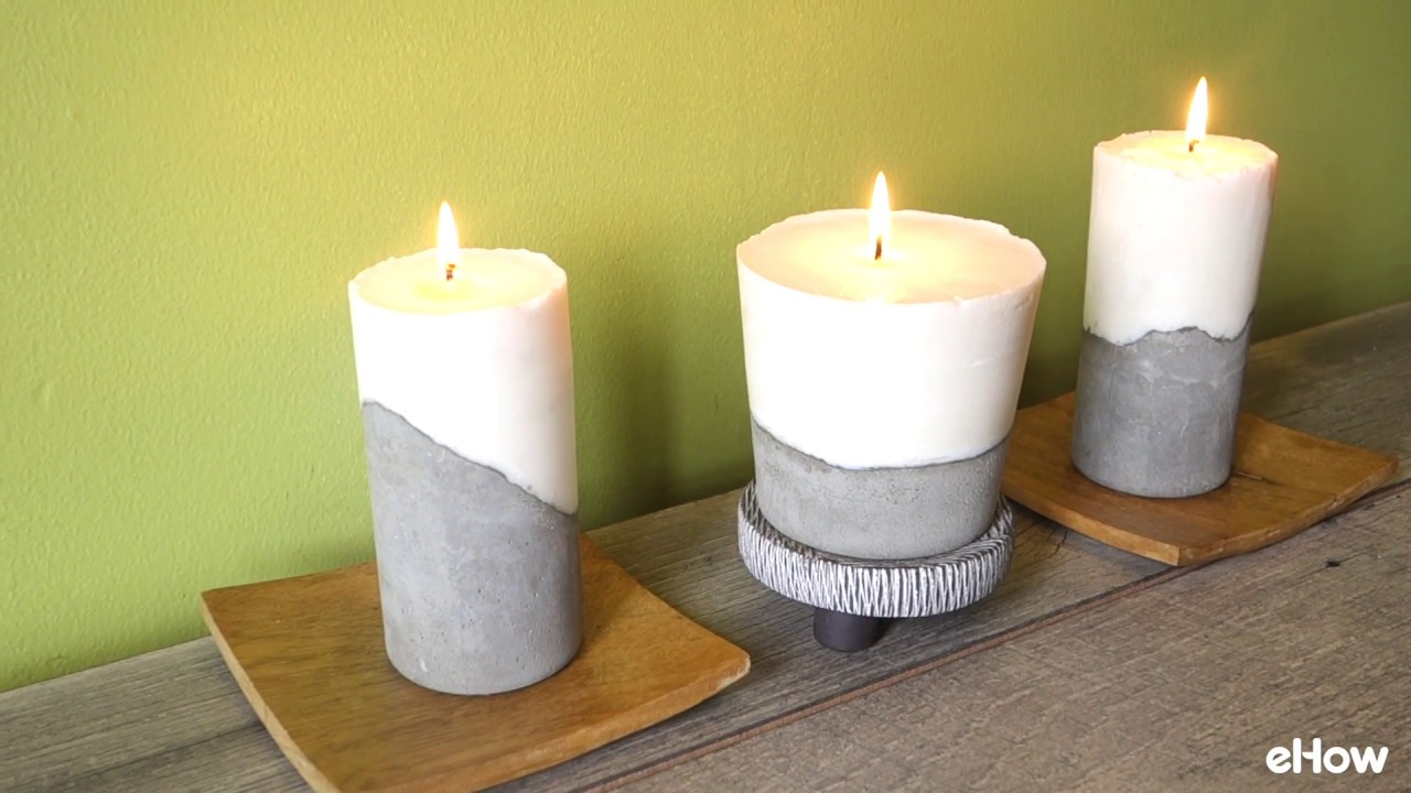 Beton Kerzenständer Diy Diy Cement Candle Tutorial