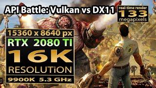 Serious Sam Fusion 16K gaming | Serious Sam DX11 vs Vulkan | Serious Sam 16K resolution