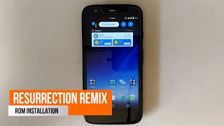 How to install Resurrection Remix on Moto G 1st generation