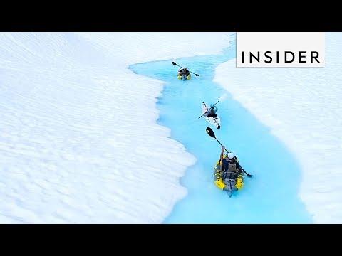 Kayak In Glaciers