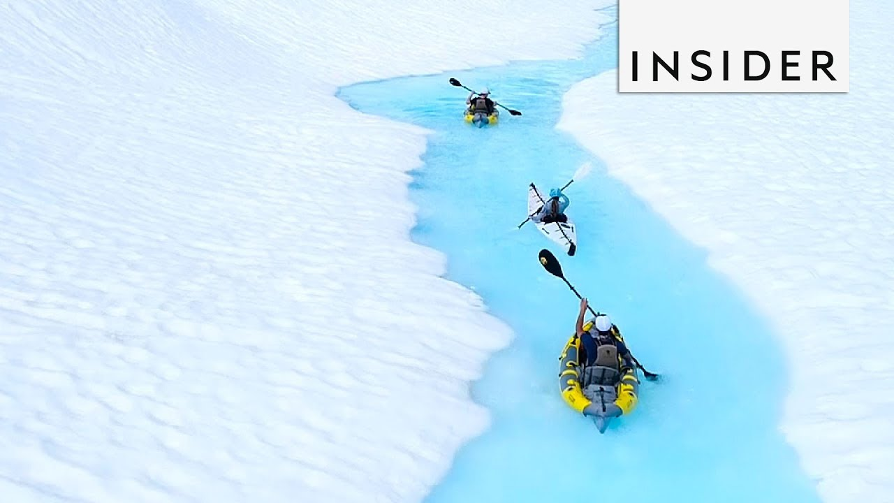 Kayak In Glaciers