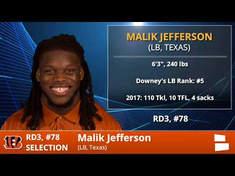 Cincinnati Bengals Select LB Malik Jefferson From Texas With Pick 78 In 3rd Round Of 2018 NFL Draft