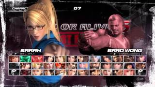 Dead or Alive 5 Last Round online Sarah gameplay PS4