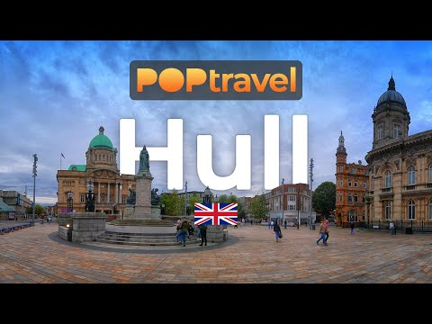 Walking in HULL / UK 🇬🇧- 4K 60fps (UHD)
