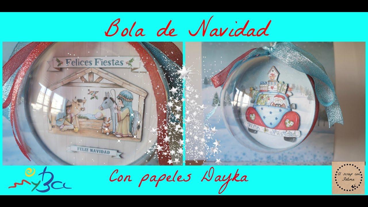 Como Decorar Bola De Navidad Transparente Hueca Con Papeles De Scrap - Bolas-de-navidad-transparentes