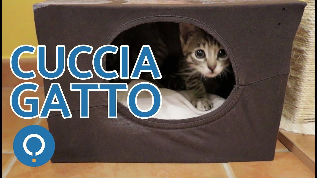 Mobili Per Gatti Fai Da Te : Cuccia gatto fai da te attività manuali per gatti youtube