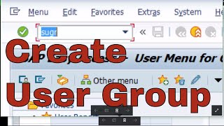 How to create user group in SAP