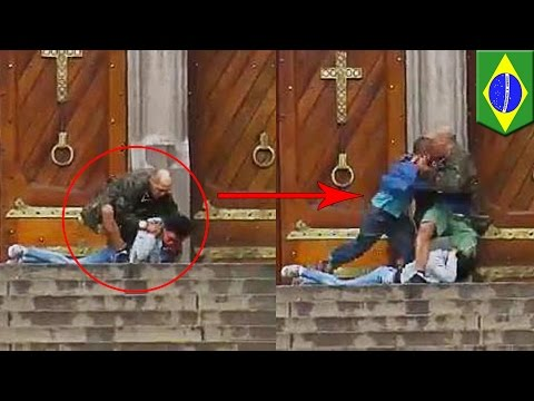 Brazil homeless hero killed on video saving woman held hostage by Sao Paulo shooter - TomoNews