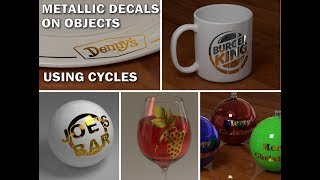 How to Put a Metallic Decal Onto an Object in Blender 3D Using Cycles
