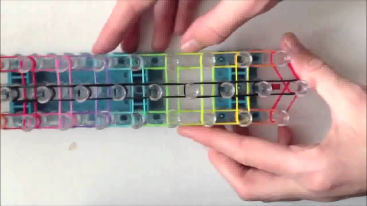 Bracelet en chelle arc en ciel rainbow loom france youtube - Comment faire un bracelet en elastique ...