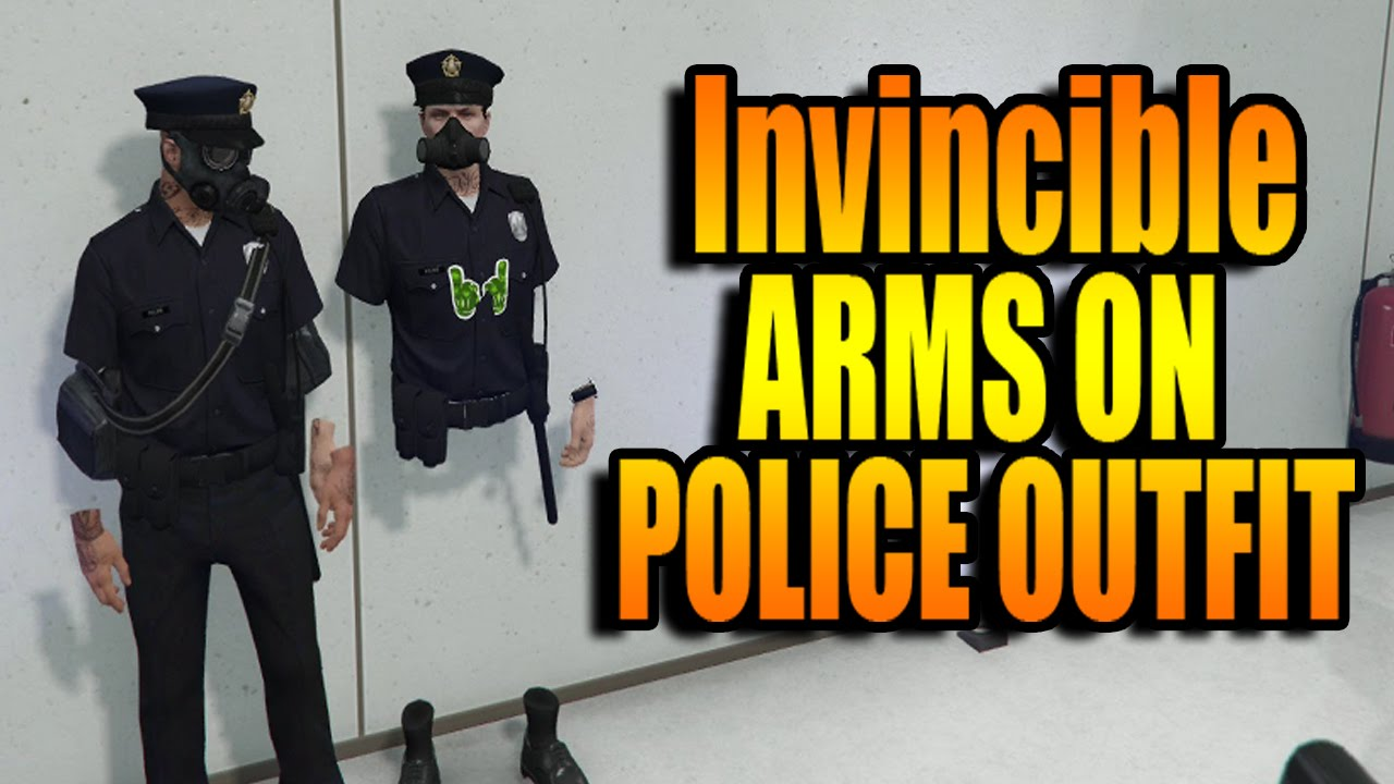 GTA 5 HOW TO GET INVINSIBLE ARMS ON COPS/POLICE OUTFIT MODDED OUTFIT! u0026quot;GTA 5 GLITCHESu0026quot; - YouTube