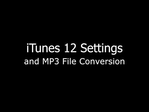 Create MP3 version in iTunes 12