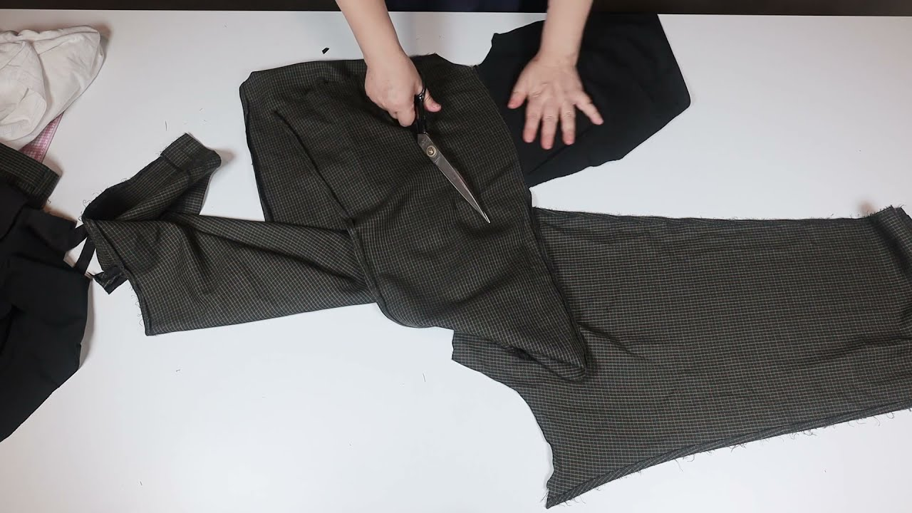 [DIY] 안 입는 아빠 바지의 재활용 7분만 투자하세요!!/Recycling dad's pants that he doesn't wear. Just invest 7 minutes!